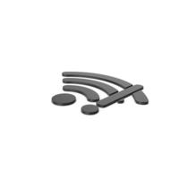 Black Symbol WIFI Error PNG & PSD Images