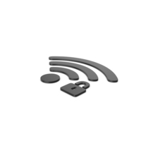 Black Symbol WIFI With Password PNG & PSD Images
