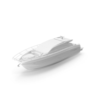Full White Speed Boat Sea Yacht PNG & PSD Images