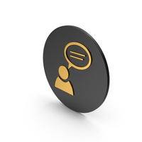 People Talking Gold Icon PNG & PSD Images