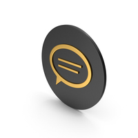 Mind Gold Icon PNG & PSD Images
