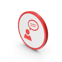 Icon People Talking Red PNG & PSD Images