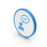 Icon People Talking Blue PNG & PSD Images