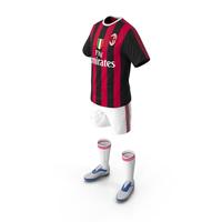 Soccer Uniform Milan PNG & PSD Images