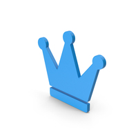 Symbol Crown Blue PNG & PSD Images