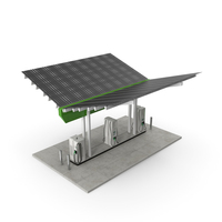 Solar Battery Charging Station PNG & PSD Images