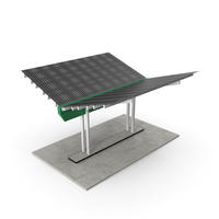 Solar Panel Charging Station PNG & PSD Images