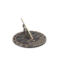 Solid Brass Horizontal Sundial PNG & PSD Images