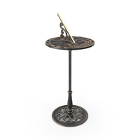 Solid Brass Sundial on Pedestal PNG & PSD Images