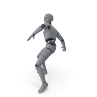 Friendly Robot Throwing Pose PNG & PSD Images