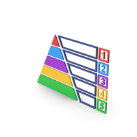 Symbol Pyramid Graph Chart Colored PNG & PSD Images