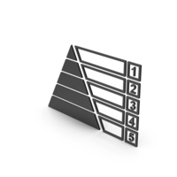 Symbol Pyramid Graph Chart Black PNG & PSD Images