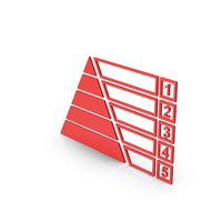 Symbol Pyramid Graph Chart Red PNG & PSD Images