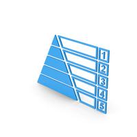 Symbol Pyramid Graph Chart Blue PNG & PSD Images