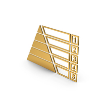 Symbol Pyramid Graph Chart Gold PNG & PSD Images