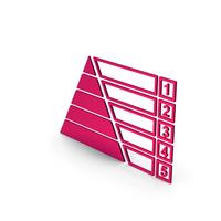 Symbol Pyramid Graph Chart Metallic PNG & PSD Images