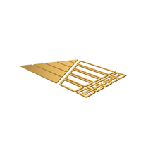Gold Symbol Pyramid Graph Chart PNG & PSD Images