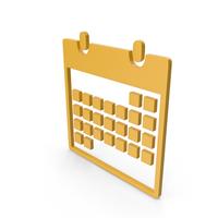Calendar Yellow Symbol PNG & PSD Images