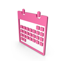 Calendar Pink Symbol PNG & PSD Images