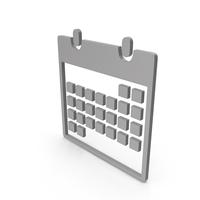 Calendar Grey Symbol PNG & PSD Images