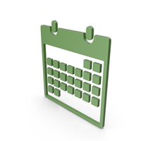 Calendar Green Symbol PNG & PSD Images