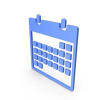 Calendar Blue Symbol PNG & PSD Images