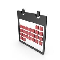 Calendar Black and Red Symbol PNG & PSD Images