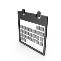 Calendar Black and Grey Symbol PNG & PSD Images