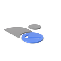 Verified User Grey and Blue Icon PNG & PSD Images