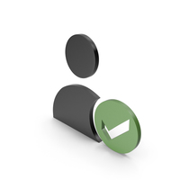 Verified User Black and Green Icon PNG & PSD Images