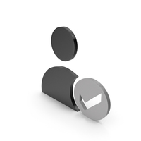 Verified User Black and Grey Icon PNG & PSD Images