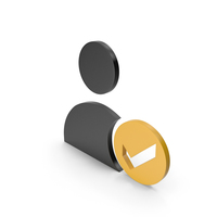 Verified User Black and Orange Icon PNG & PSD Images