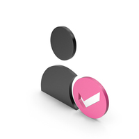 Verified User Black and Pink Icon PNG & PSD Images
