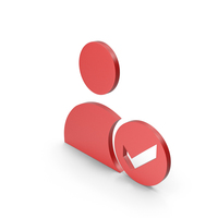Verified User Red Icon PNG & PSD Images