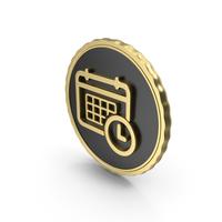Logo Clock Time Calendar Gold PNG & PSD Images