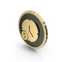 Logo Clock Time Dollar Gold PNG & PSD Images