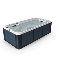 Spa Hot Tub with Water PNG & PSD Images
