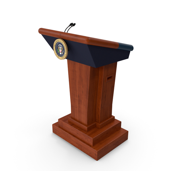 Speech Stand United States President PNG & PSD Images