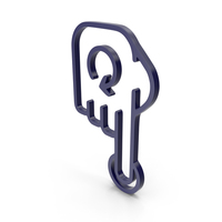 Rotate Finger Dark Blue Icon PNG & PSD Images