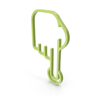 One Finger Green Icon PNG & PSD Images