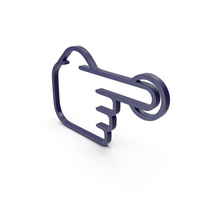 One Finger Dark Blue Icon PNG & PSD Images