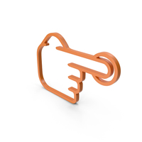 One Finger Orange Icon PNG & PSD Images