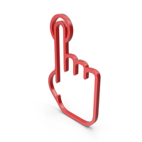 One Finger Red Icon PNG & PSD Images