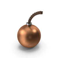 Round Bomb Copper PNG & PSD Images