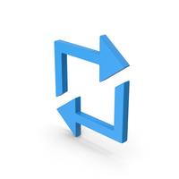 Symbol Repeat Blue PNG & PSD Images