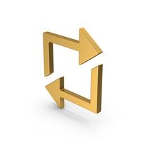Symbol Repeat Gold PNG & PSD Images