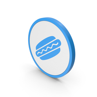 Icon Hot Dog Blue PNG & PSD Images