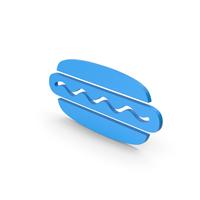 Symbol Hot Dog Blue PNG & PSD Images