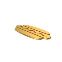 Gold Symbol Hot Dog PNG & PSD Images