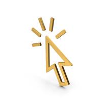 Symbol Click Gold PNG & PSD Images